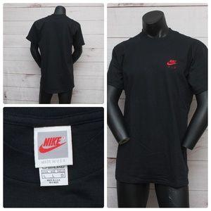 Vintage NIKE AIR Black & Red LARGE T Shirt Mens